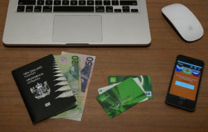 New Zealand passport and money
